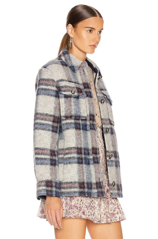 Image 3 of Isabel Marant Etoile Gaston Shirt in Ecru & Blue