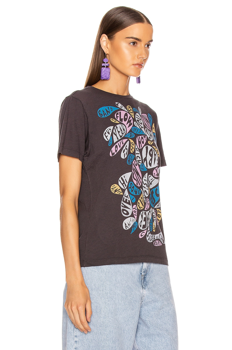 Image 3 of Isabel Marant Etoile Zewel Tee Shirt in Faded Black