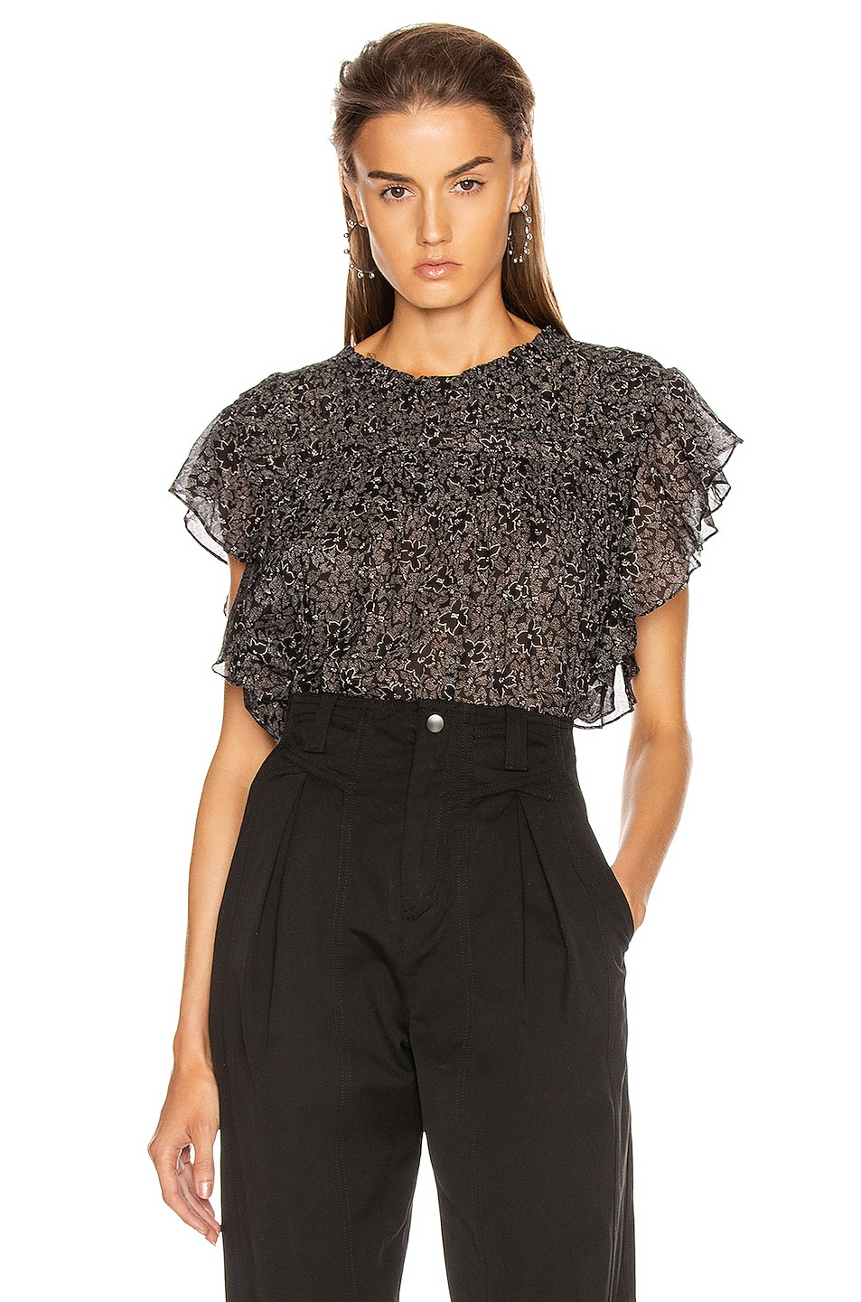 Image 1 of Isabel Marant Etoile Layona Top in Black