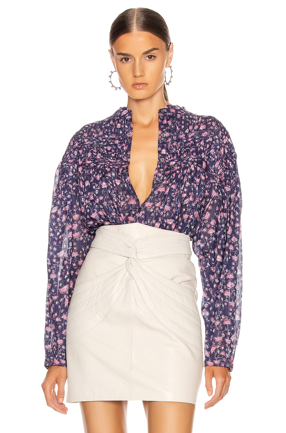 Image 1 of Isabel Marant Etoile Lalia Top in Midnight