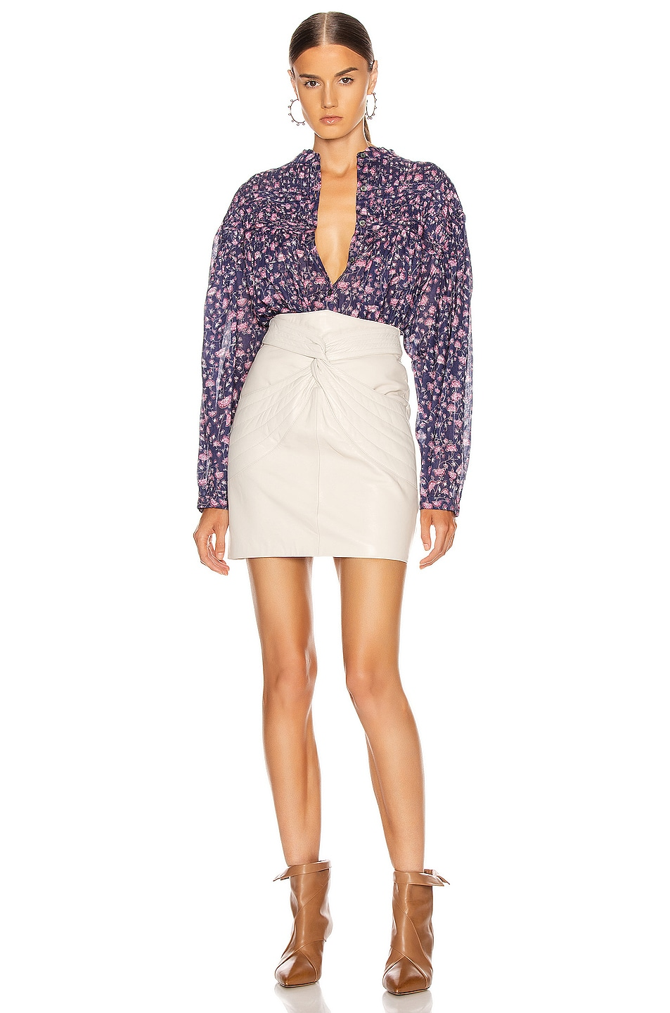 Image 4 of Isabel Marant Etoile Lalia Top in Midnight