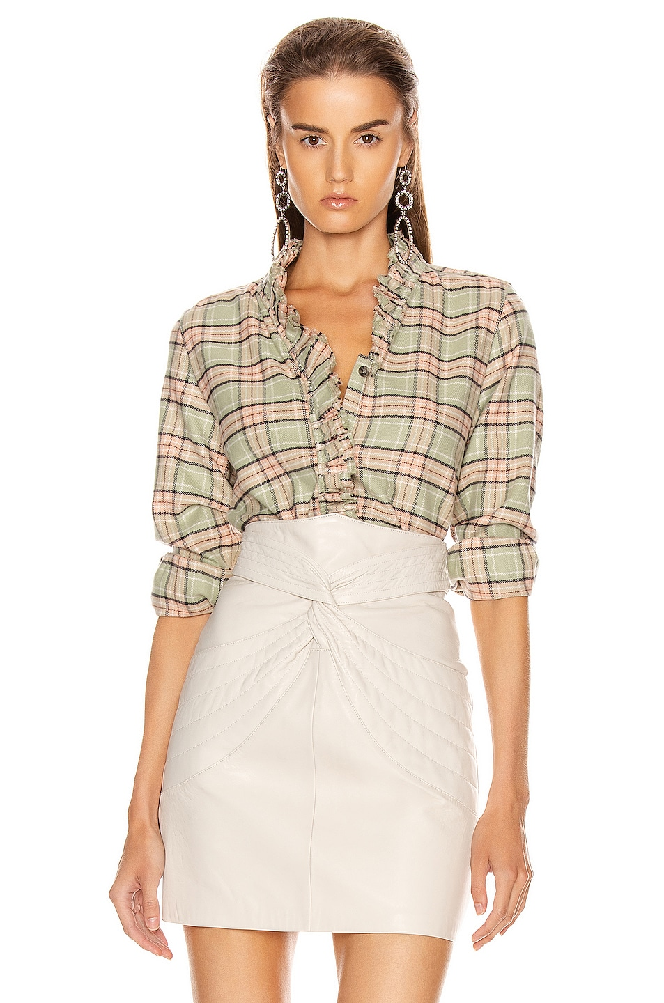 Image 1 of Isabel Marant Etoile Awendy Shirt in Almond & Pink