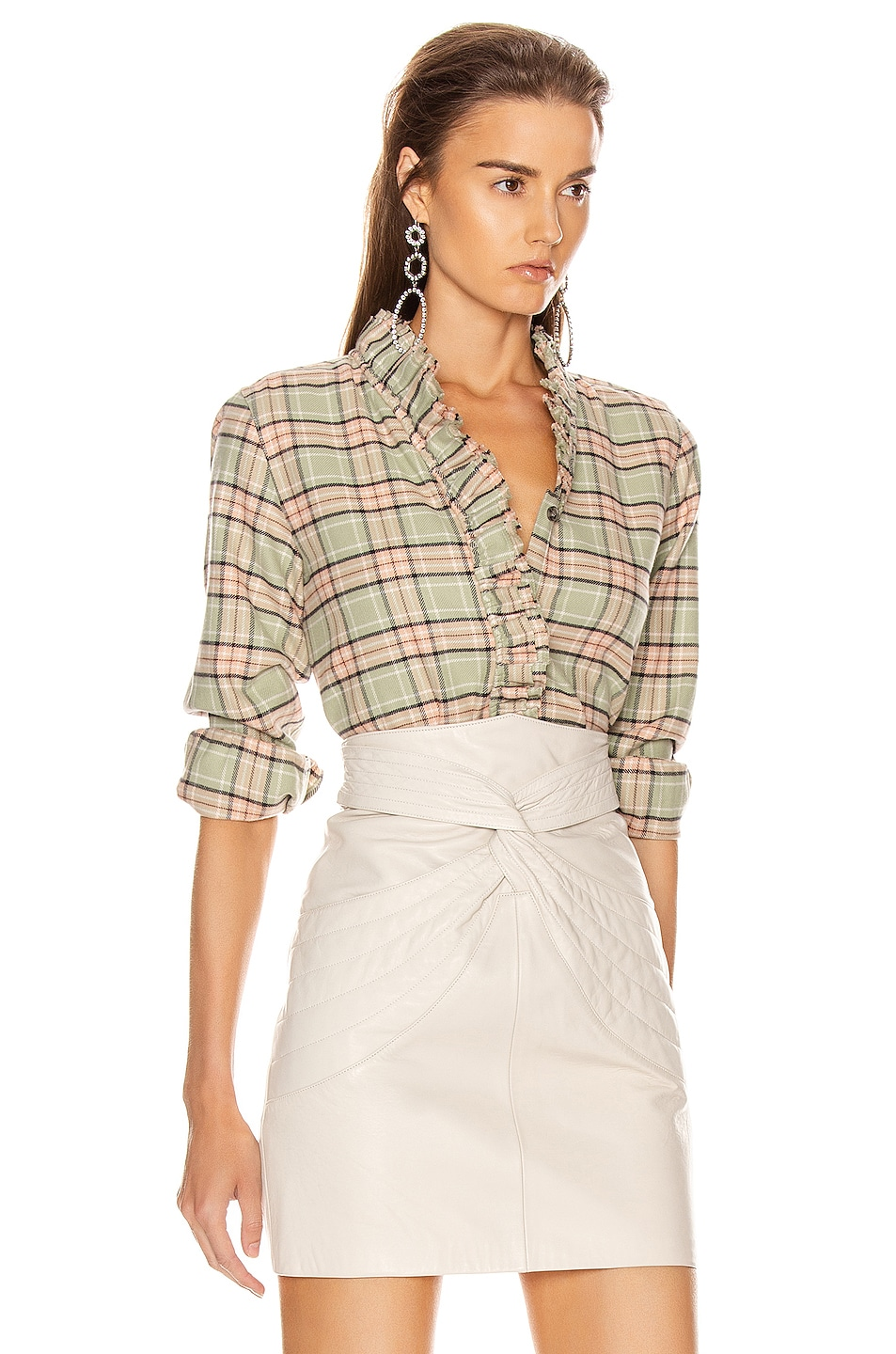 Image 2 of Isabel Marant Etoile Awendy Shirt in Almond & Pink
