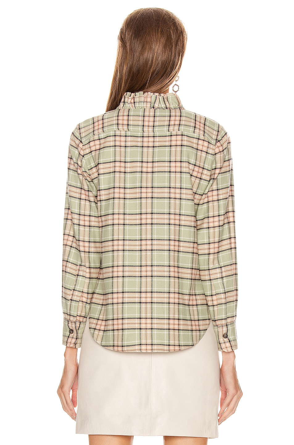 Image 3 of Isabel Marant Etoile Awendy Shirt in Almond & Pink