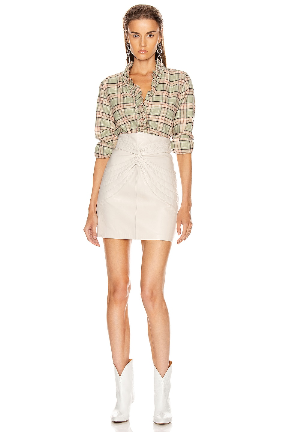 Image 4 of Isabel Marant Etoile Awendy Shirt in Almond & Pink