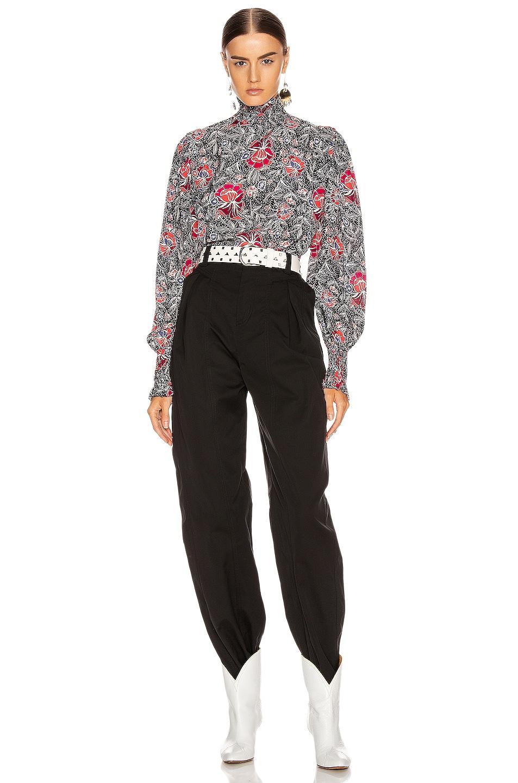 Image 4 of Isabel Marant Etoile Yoshi Top in Black
