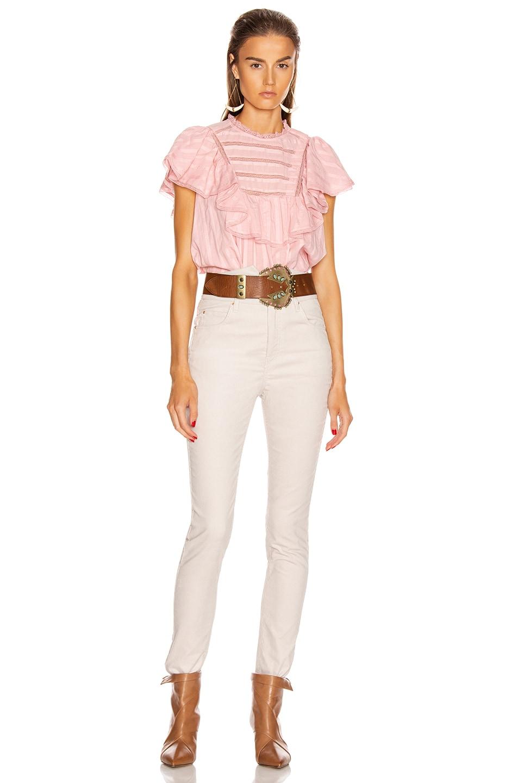Image 4 of Isabel Marant Etoile Pleyel Top in Pink