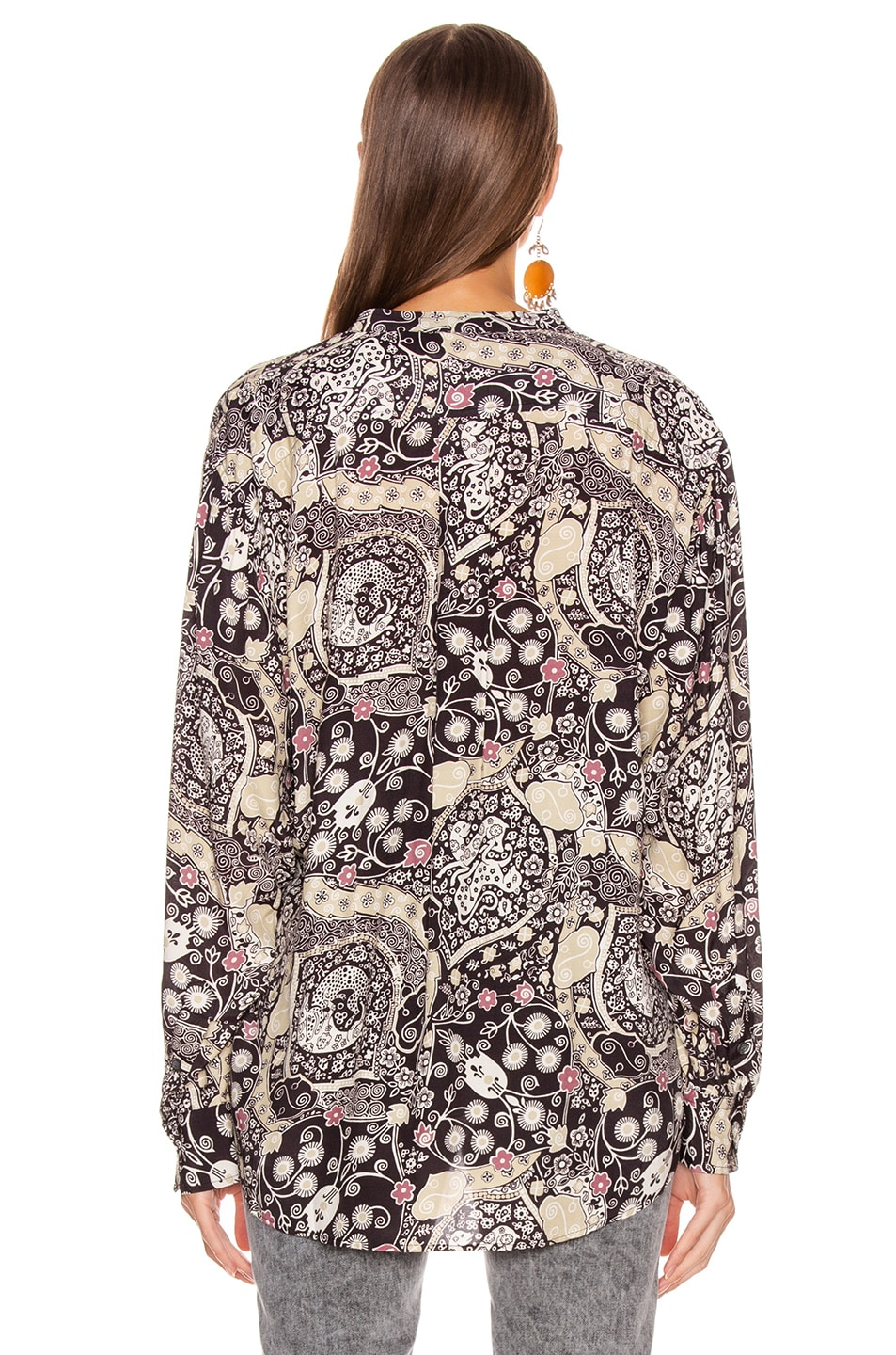 Image 3 of Isabel Marant Etoile Catchell Shirt in Black & Beige