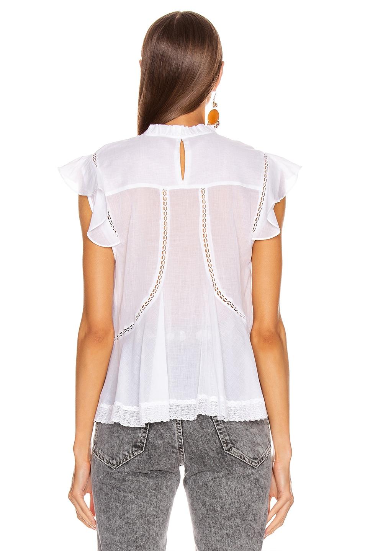 Image 4 of Isabel Marant Etoile Vivia Top in White