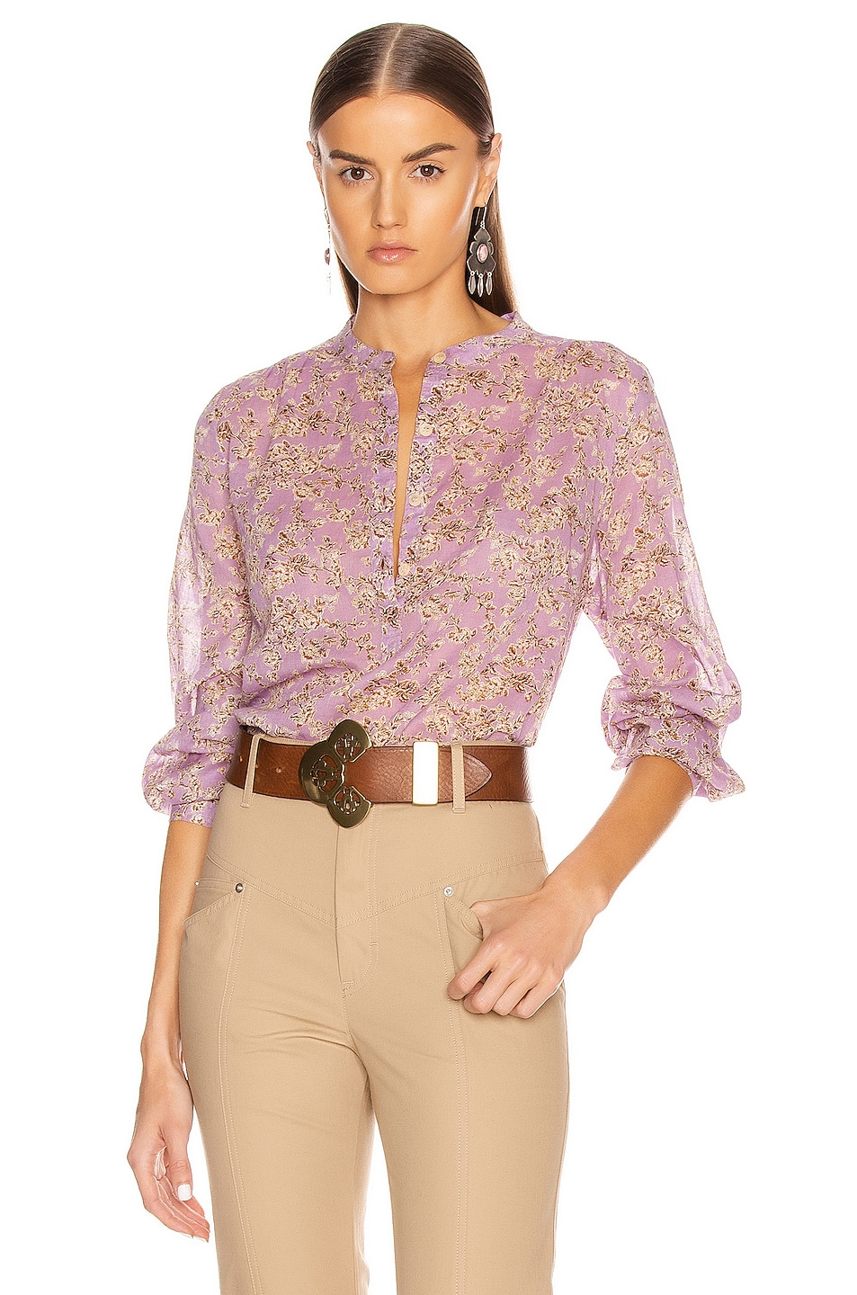 Image 1 of Isabel Marant Etoile Maria Top in Lilac