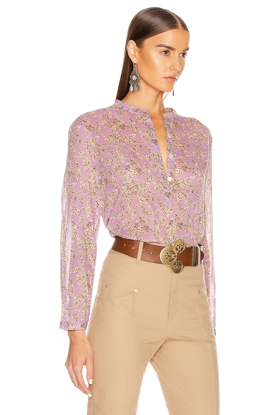 Image 2 of Isabel Marant Etoile Maria Top in Lilac