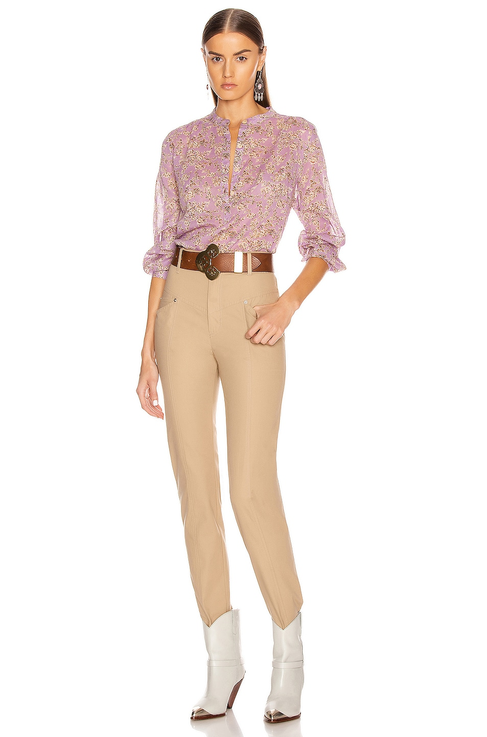 Image 4 of Isabel Marant Etoile Maria Top in Lilac