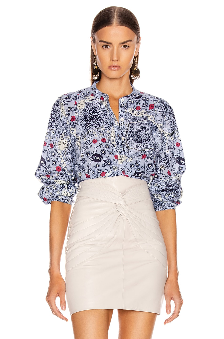 Image 1 of Isabel Marant Etoile Maria Shirt in Blue