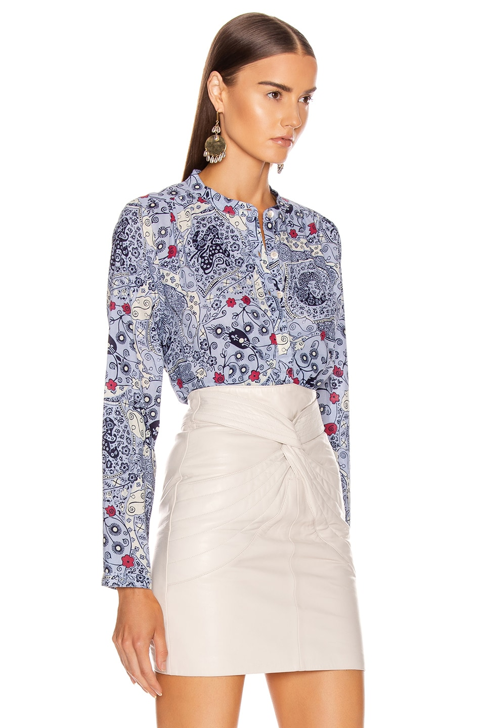 Image 2 of Isabel Marant Etoile Maria Shirt in Blue