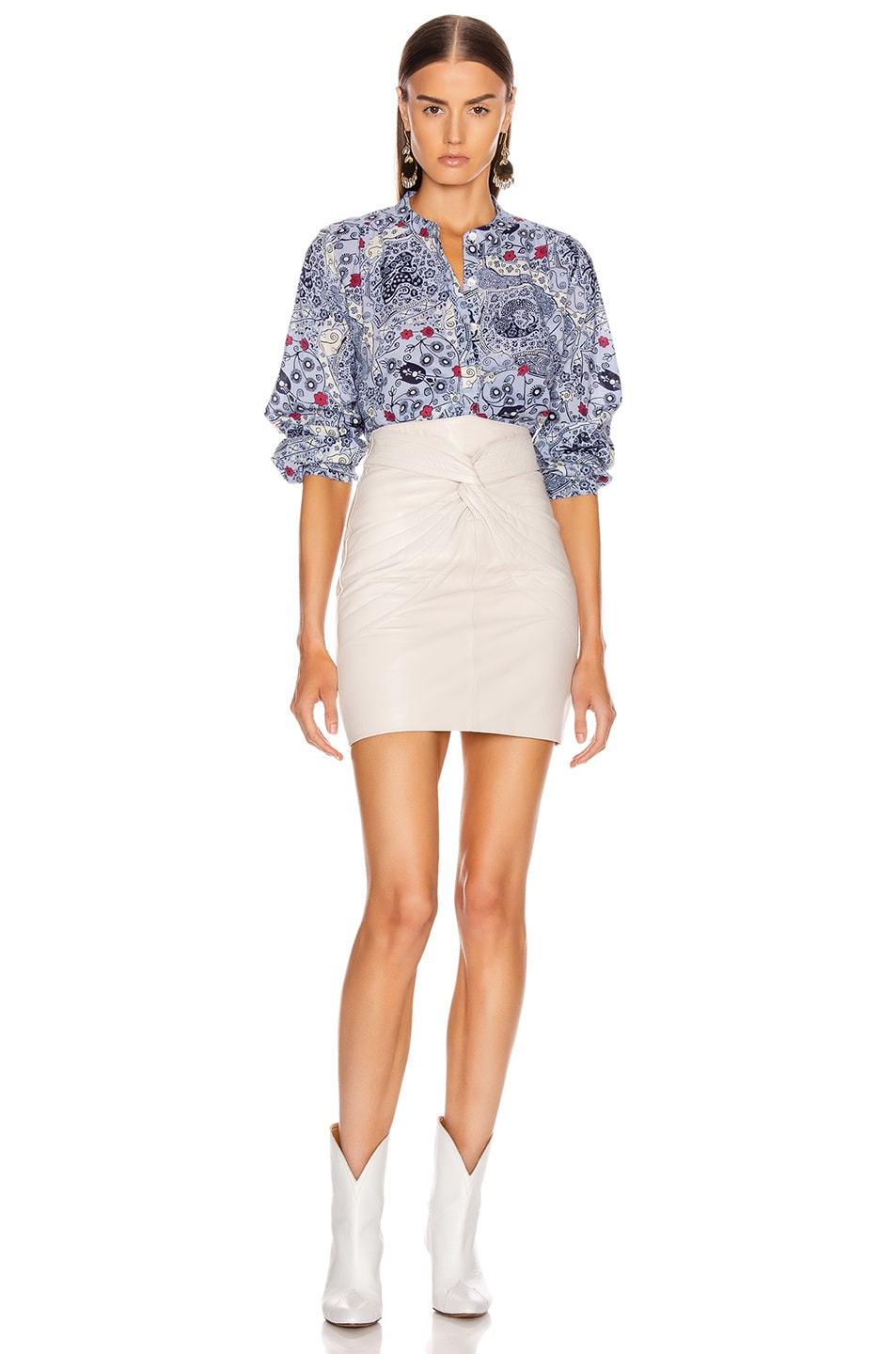 Image 4 of Isabel Marant Etoile Maria Shirt in Blue