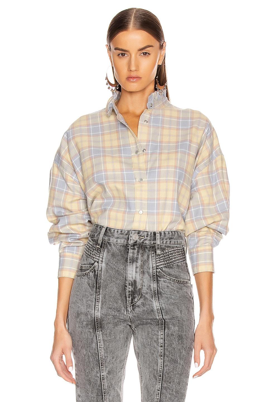 Image 1 of Isabel Marant Etoile Ilaria Shirt in Yellow