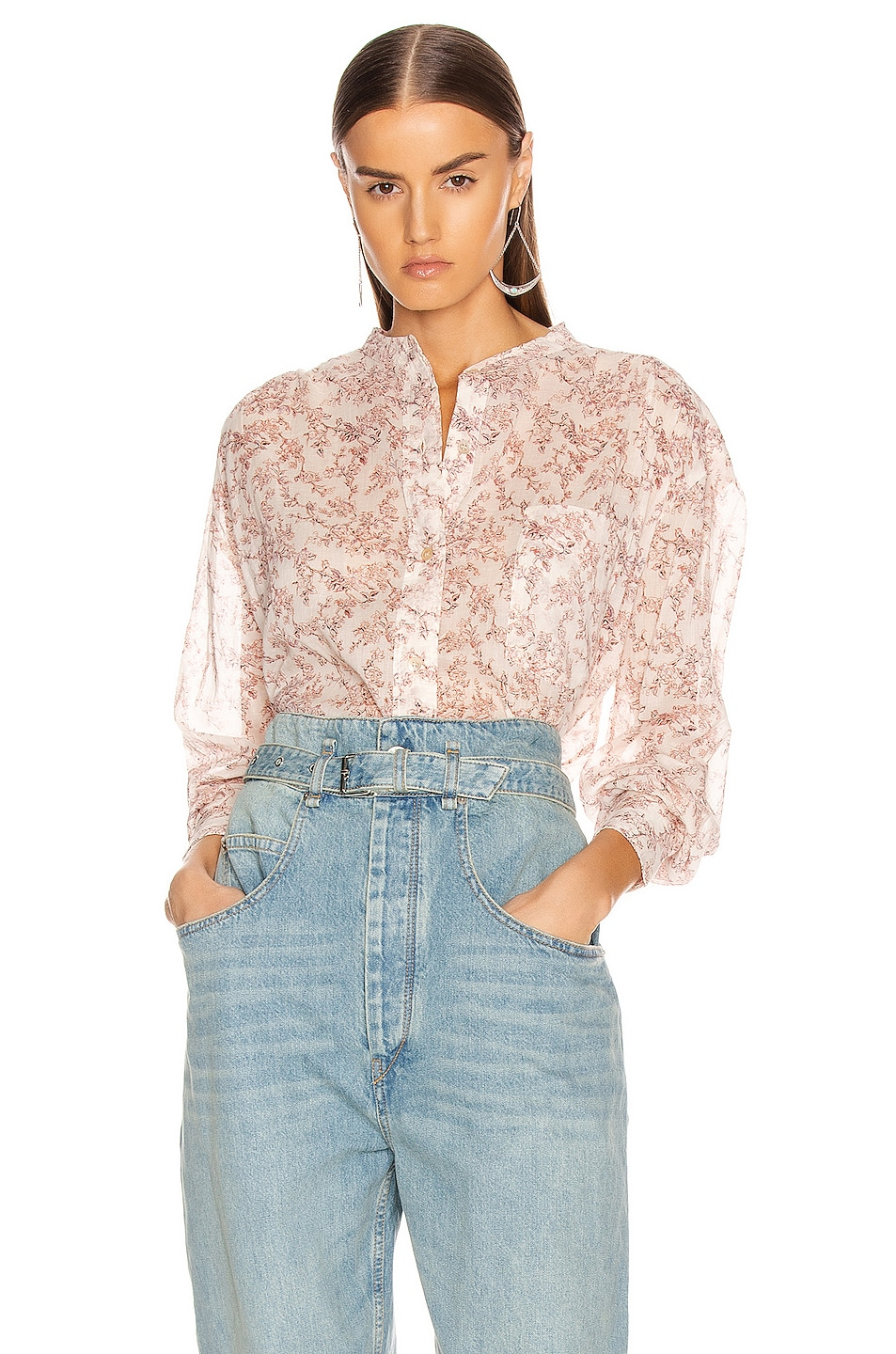 Image 1 of Isabel Marant Etoile Mexika Shirt in Ecru