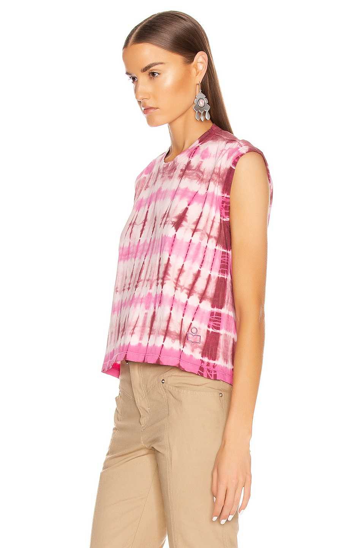 Image 3 of Isabel Marant Etoile Anette Tee Shirt in Burgundy