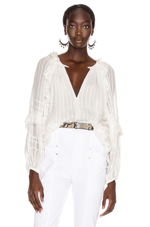 Image 1 of Isabel Marant Etoile Jayden Top in White