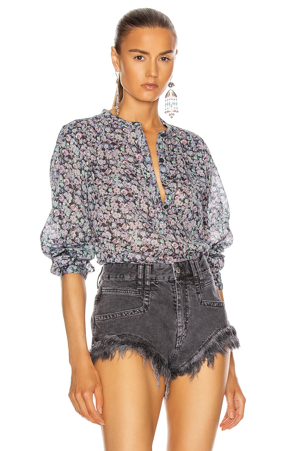 Image 1 of Isabel Marant Etoile Maria Top in Multicolor