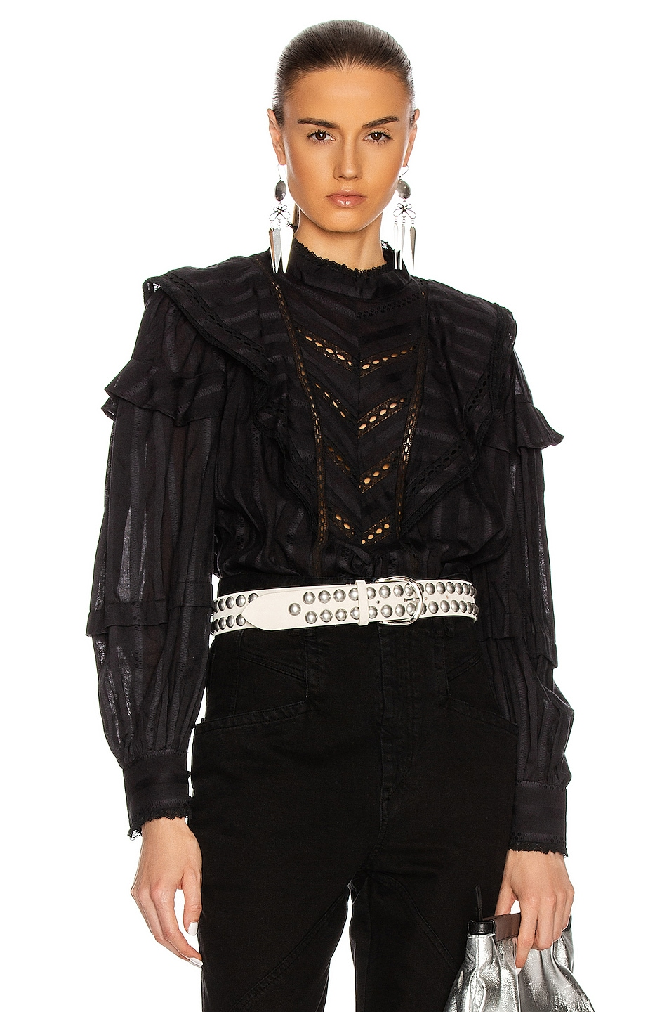 Image 1 of Isabel Marant Etoile Reign Top in Black