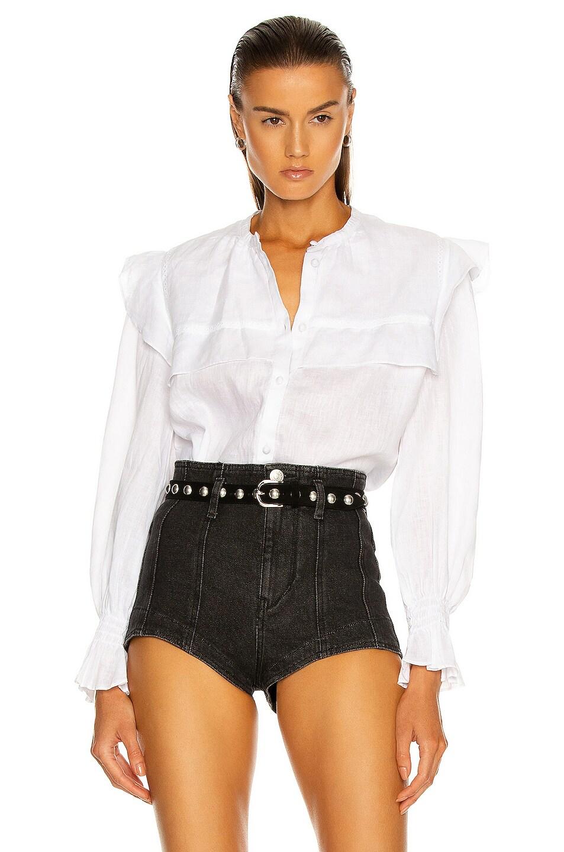 Image 1 of Isabel Marant Etoile Elatedy Top in White