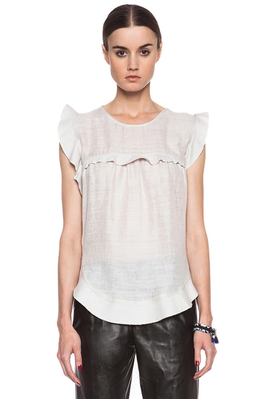 Image 1 of Isabel Marant Etoile Sonia Silk Top in Ecru