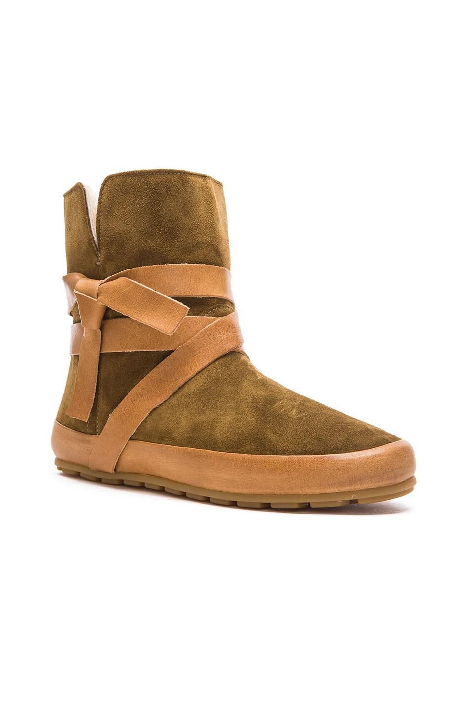 Image 2 of Isabel Marant Etoile Nygel Winter Calfskin Velvet Dancing Boots in Brown