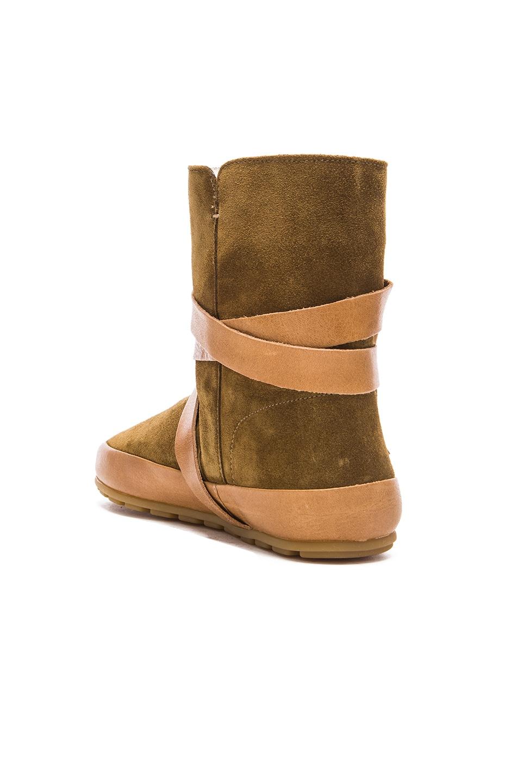 Image 3 of Isabel Marant Etoile Nygel Winter Calfskin Velvet Dancing Boots in Brown