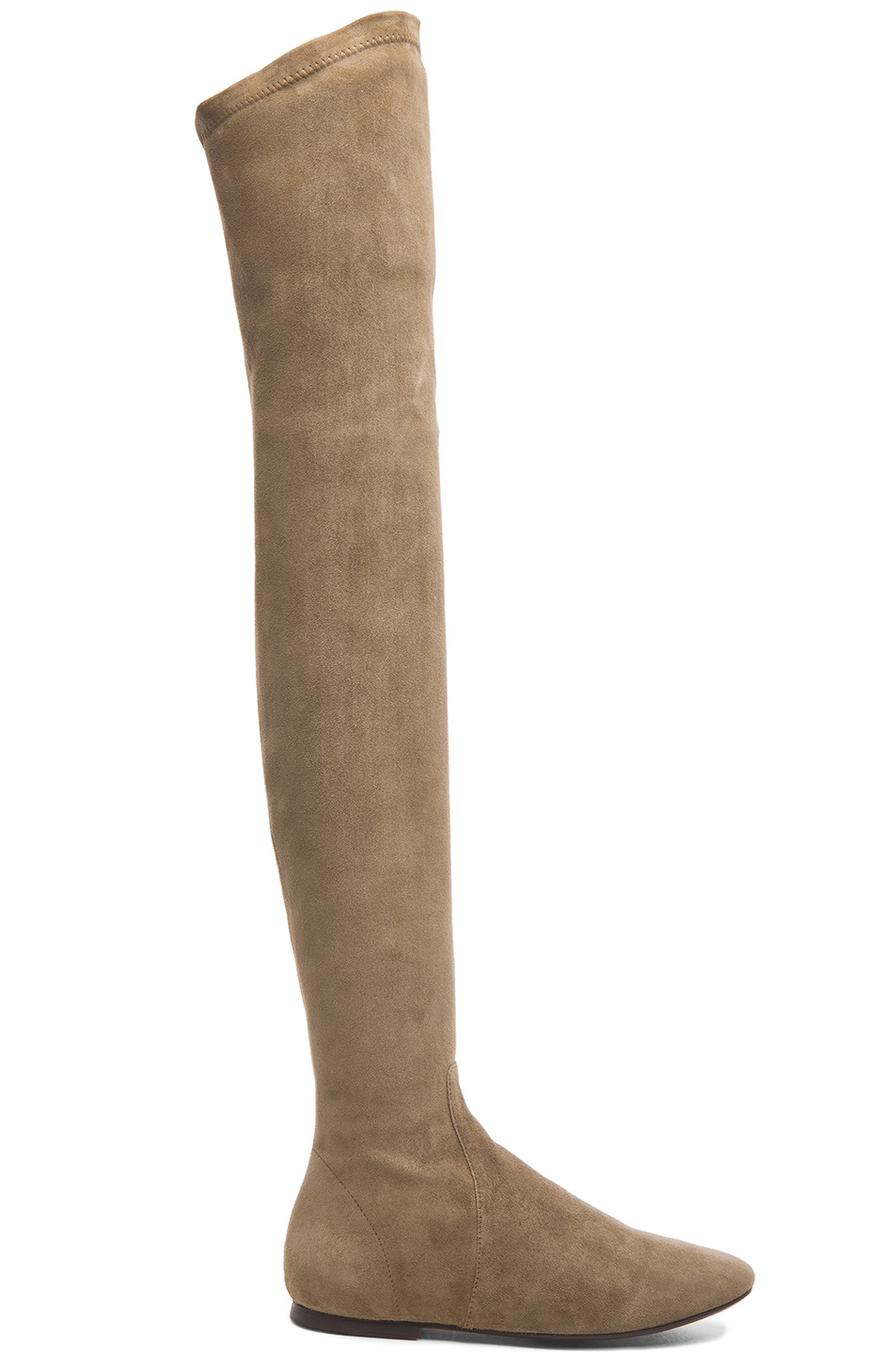 Image 1 of Isabel Marant Etoile Brenna Over the Knee Suede Boots in Taupe