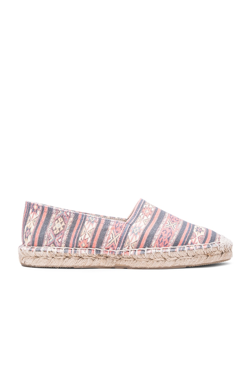 Image 1 of Isabel Marant Etoile Cana Canvas Espadrilles in Black Rust