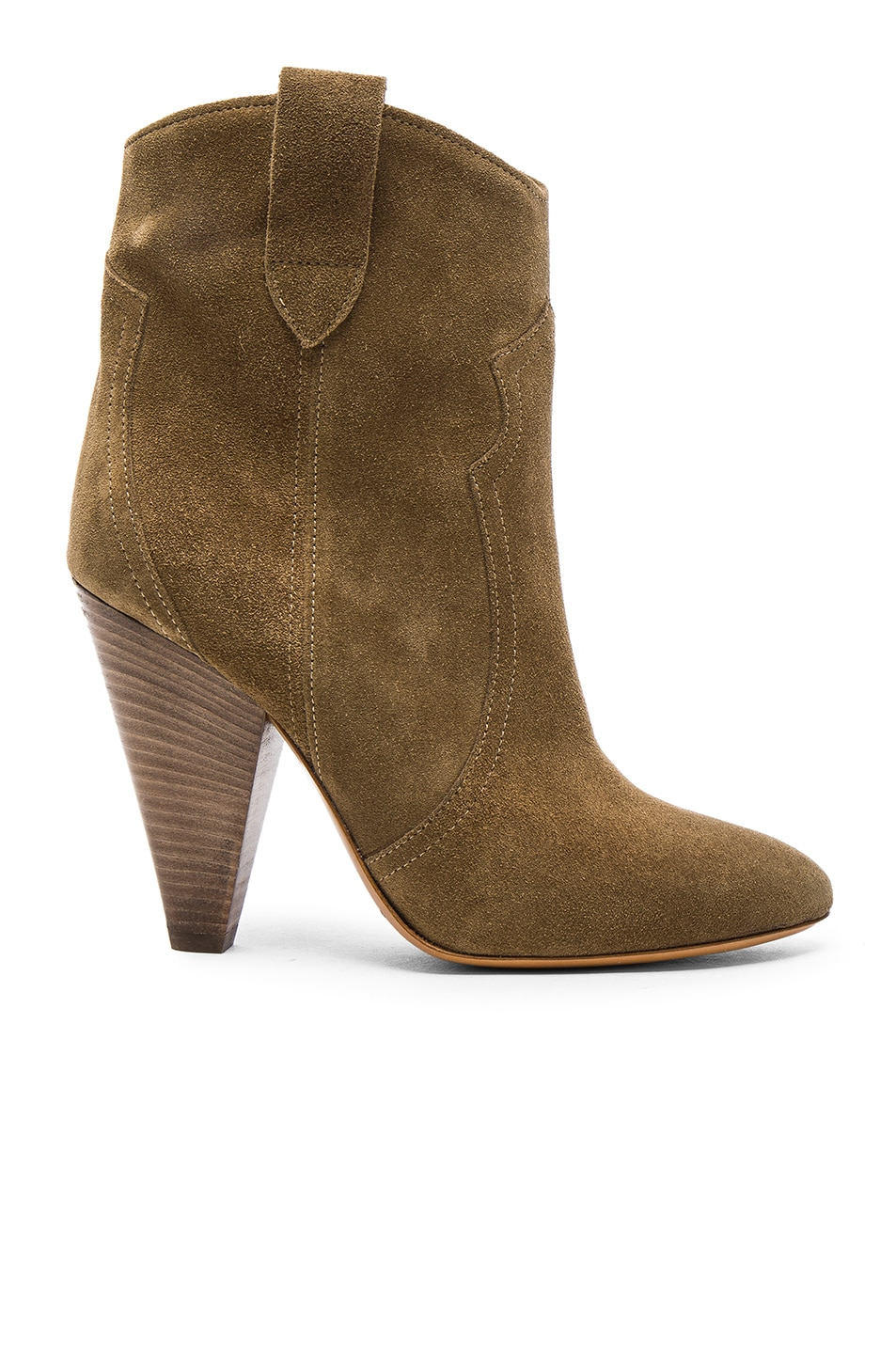 Image 1 of Isabel Marant Etoile Roxann Velvet Booties in Brown