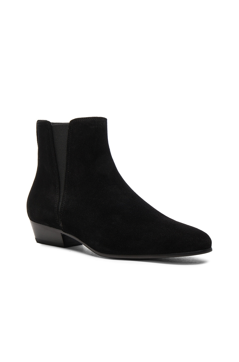 Image 2 of Isabel Marant Etoile Patsha Velvet Booties in Black
