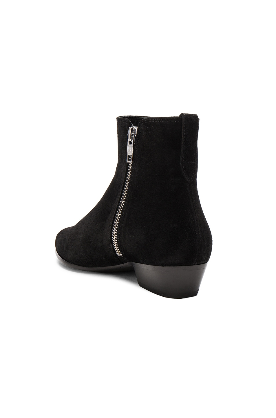 Image 3 of Isabel Marant Etoile Patsha Velvet Booties in Black