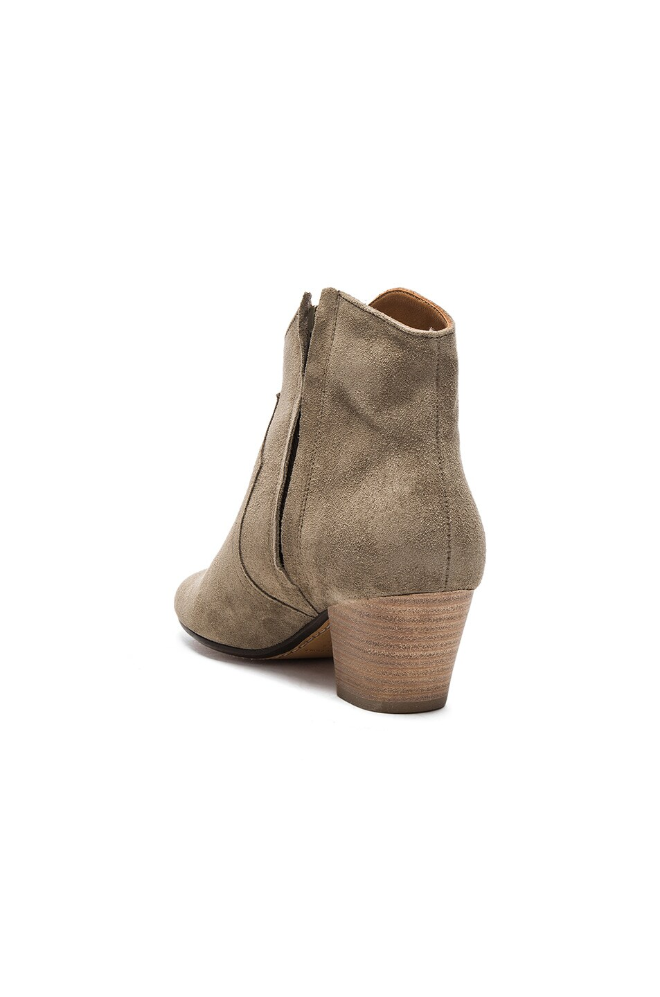 Image 3 of Isabel Marant Etoile Dicker Velvet Booties in Taupe