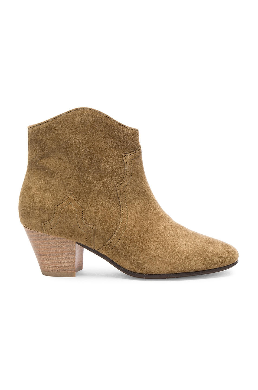 Image 1 of Isabel Marant Etoile Dicker Velvet Booties in Brown
