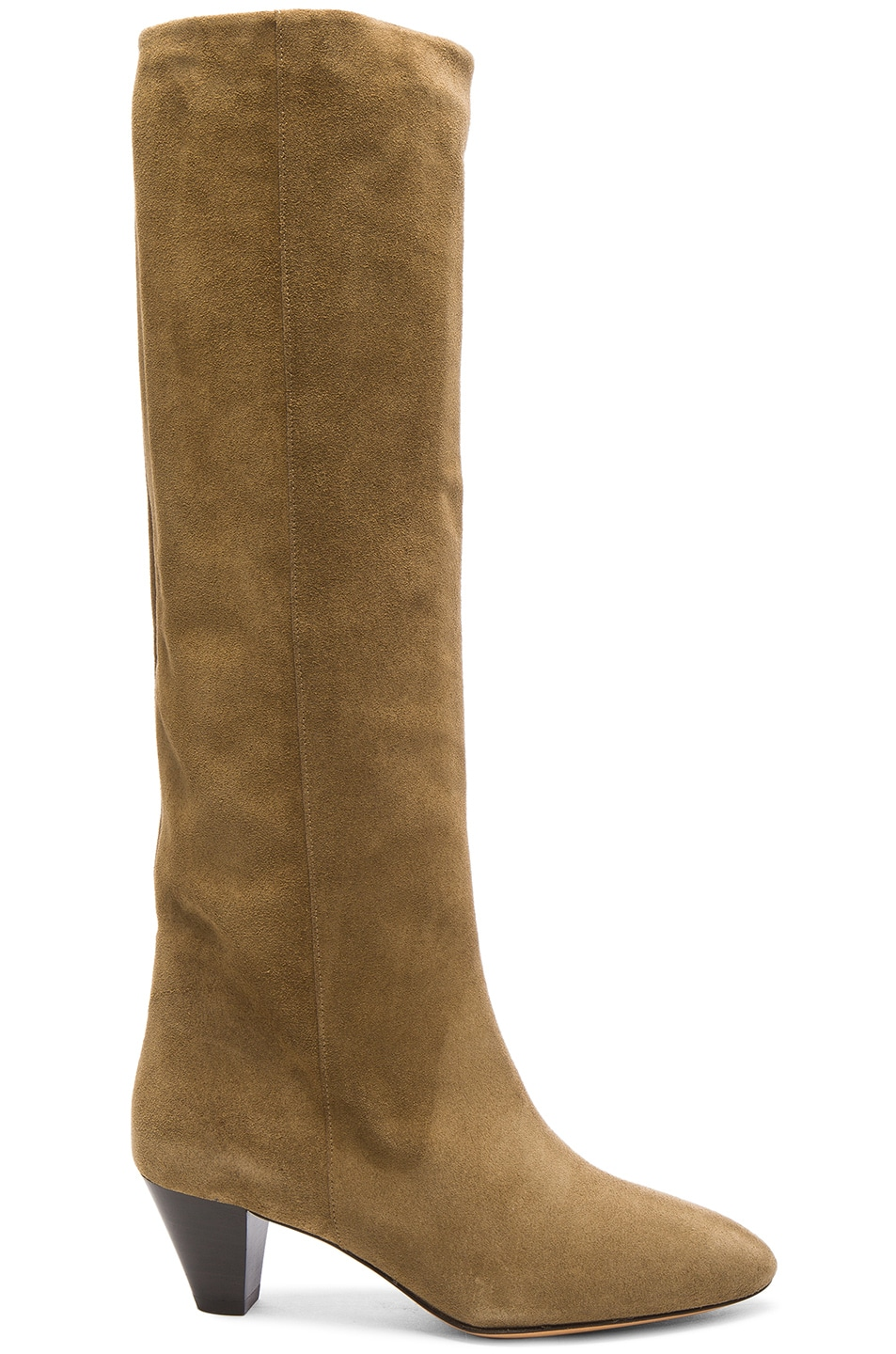 Image 1 of Isabel Marant Etoile Robby New Velvet Boots in Brown