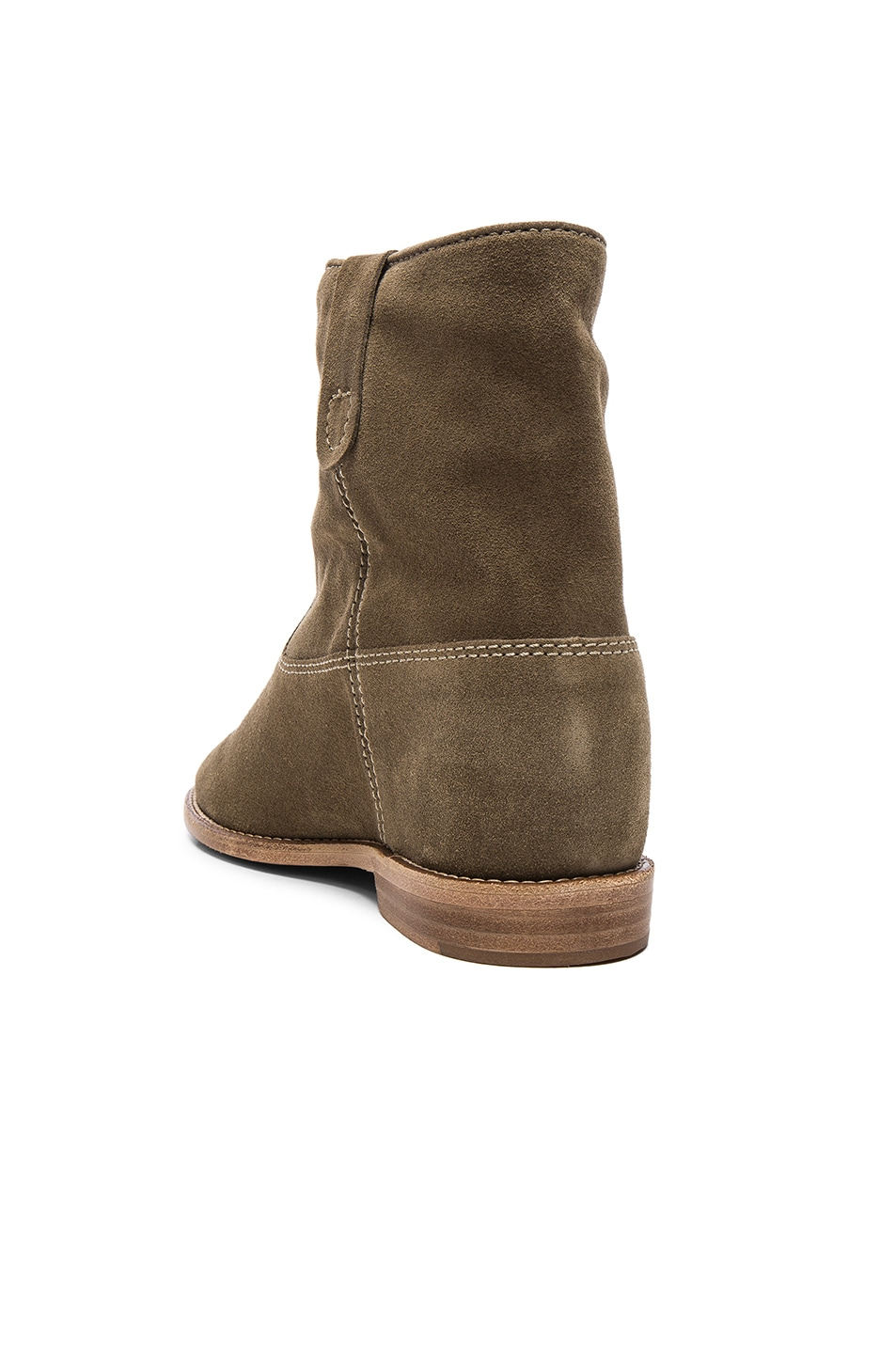 Image 3 of Isabel Marant Etoile Crisi Velvet Booties in Taupe