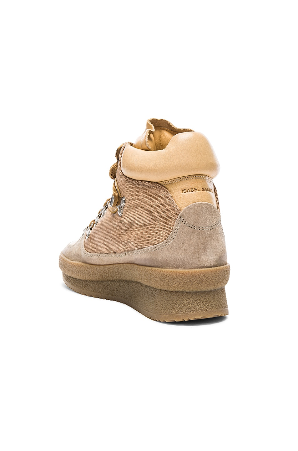 Image 3 of Isabel Marant Etoile Brent Hiking Boots in Beige
