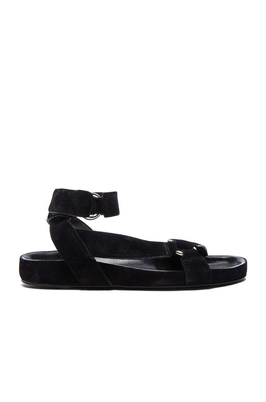 Image 1 of Isabel Marant Etoile Suede Loatis Easy Chic Sandals in Black