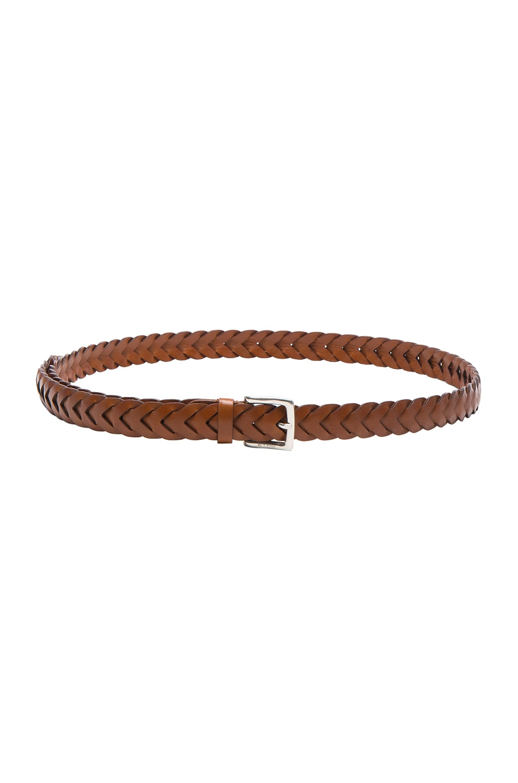 Image 1 of Etro Donna Braided Belt in Brown