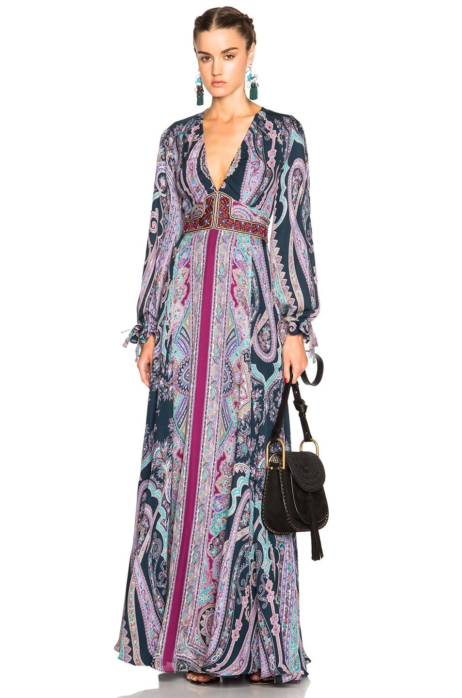 Image 1 Of Etro Maxi Print Dress In Multi