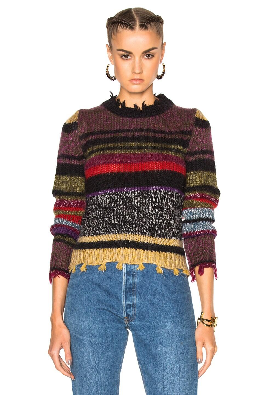 Image 1 of Etro Violet Stripe Sweater in Multi