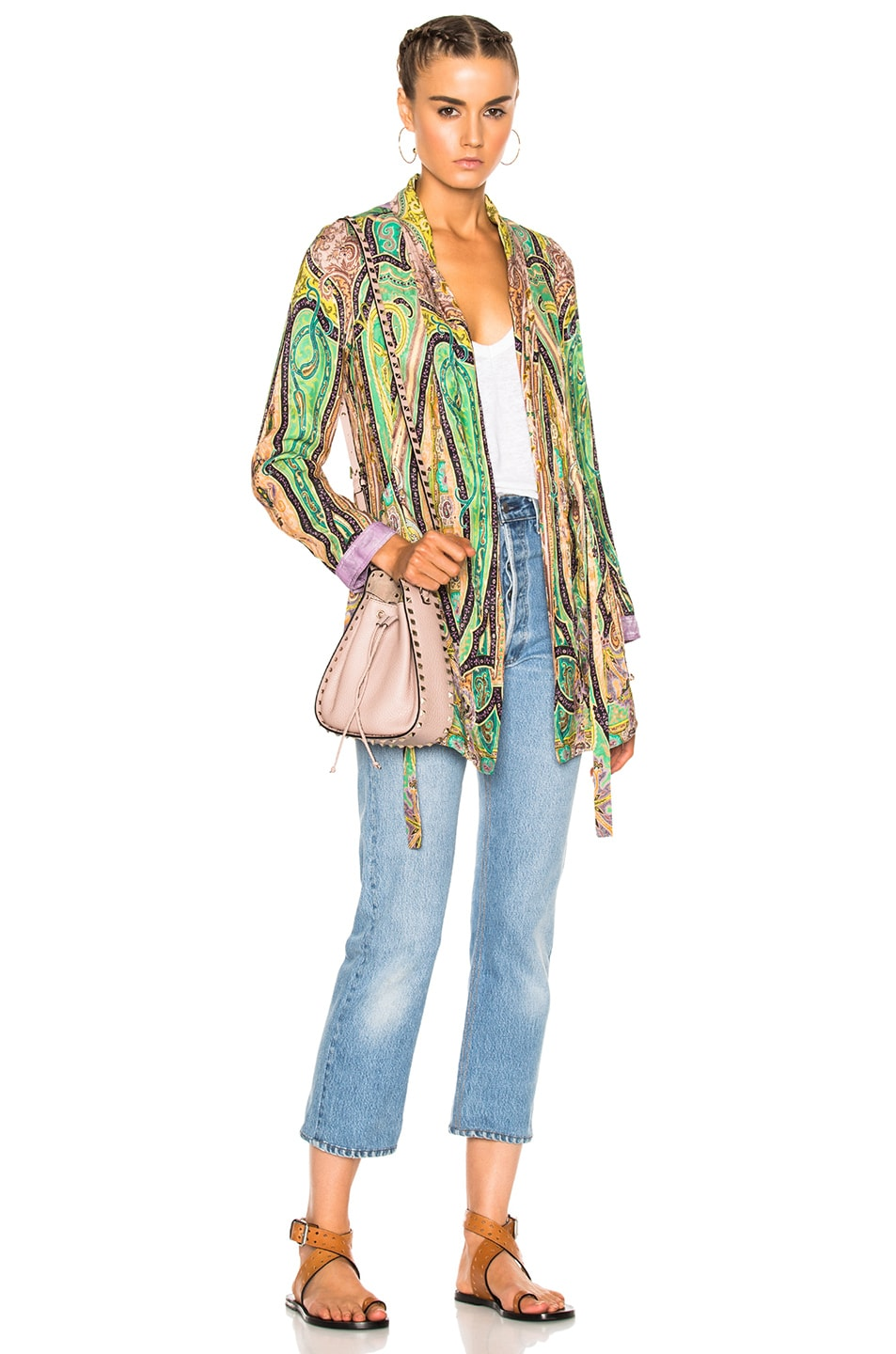 Image 1 of Etro Violante Printed Jacket in Multi