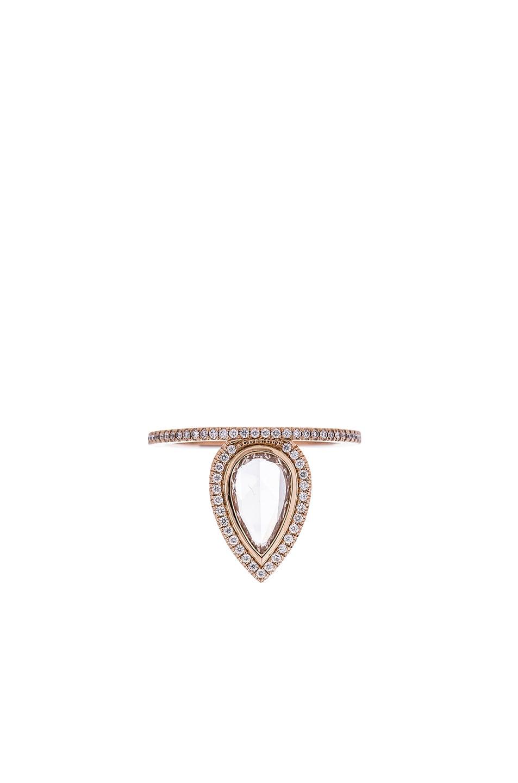 Image 1 of Eva Fehren The Gatsby Ring in 18K Rose Gold