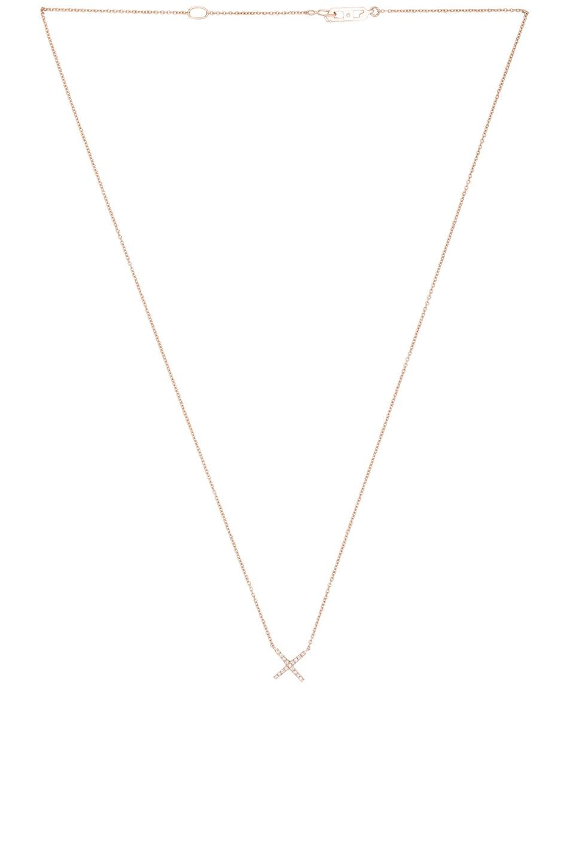 Image 2 of Eva Fehren Baby X Pendant in Rose Gold & Pale Champagne Diamonds