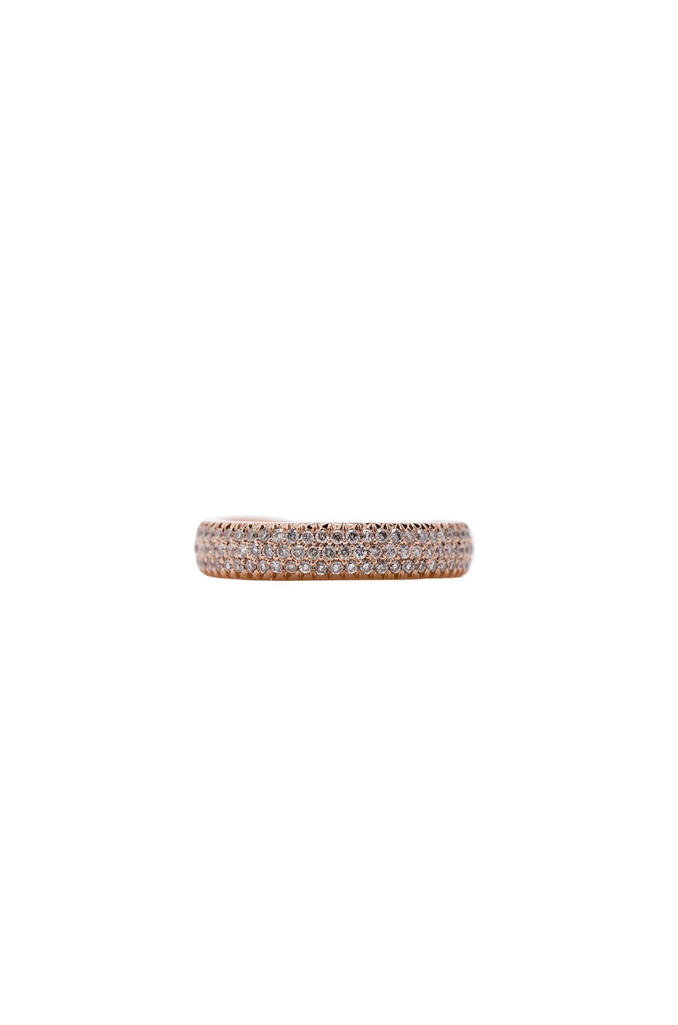 Image 3 of Eva Fehren Kissing Claw Ring in 18K Rose Gold & Pale Champagne Diamonds