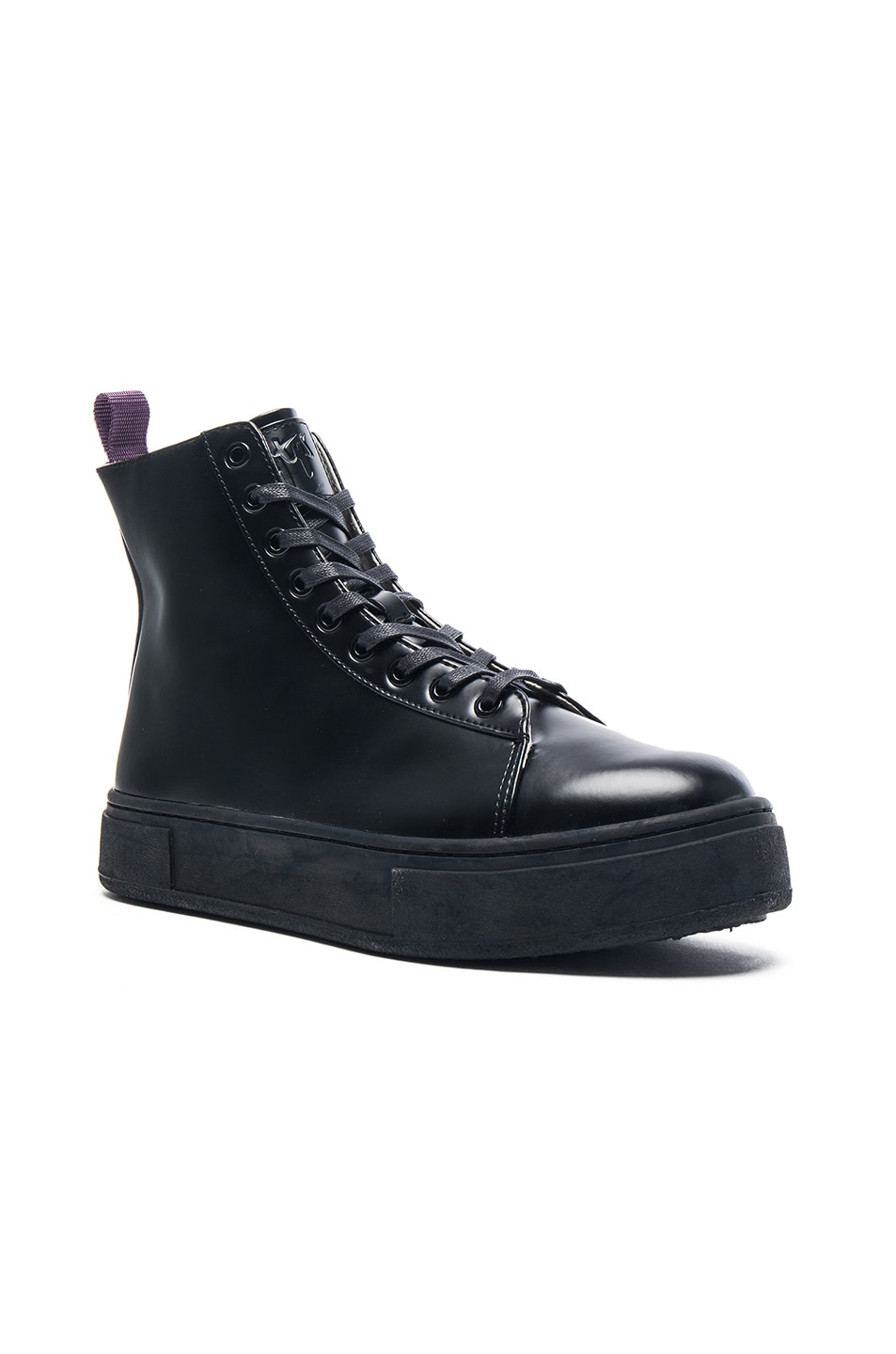 Image 1 of Eytys Kibo Leather Boots in Black