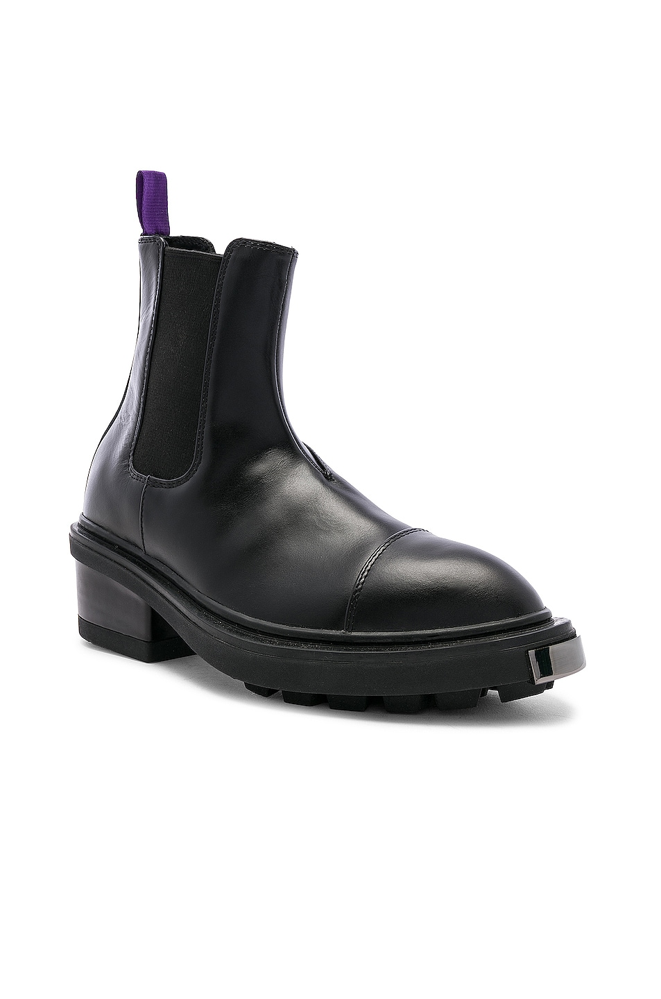 Image 2 of Eytys Nikita Leather Boot in Black