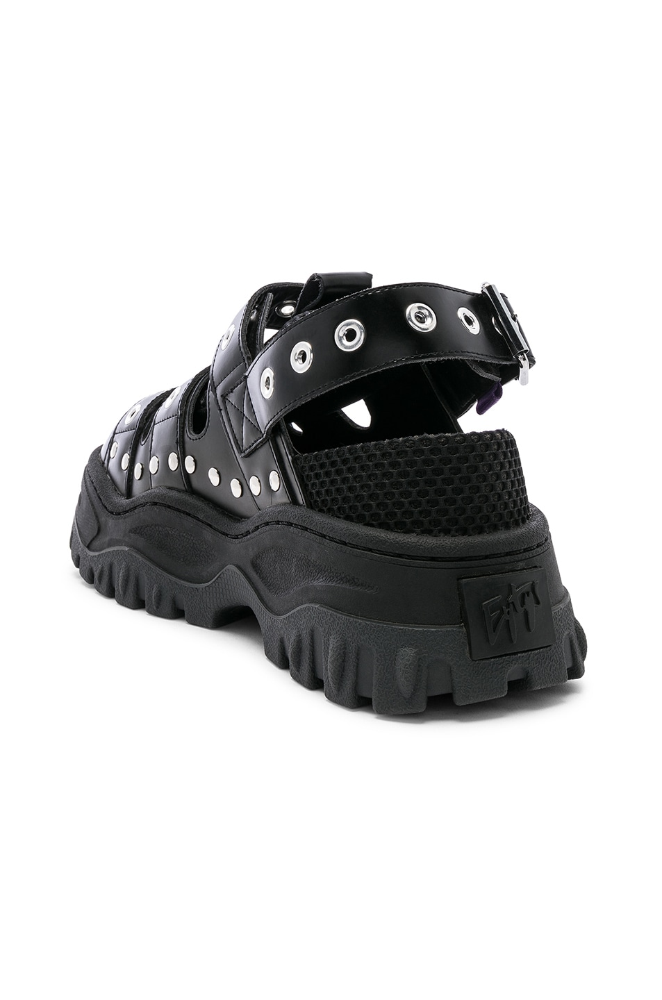 Image 3 of Eytys Athena Leather Sandal in Black